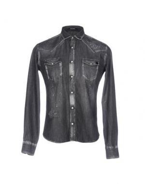 Джинсовая рубашка TAKESHY KUROSAWA. Цвет: стальной серый
