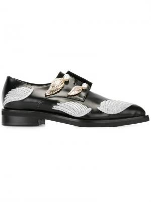 Декорированные туфли Coliac. Цвет: чёрный