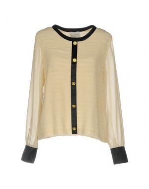 Блузка EDWARD ACHOUR. Цвет: бежевый