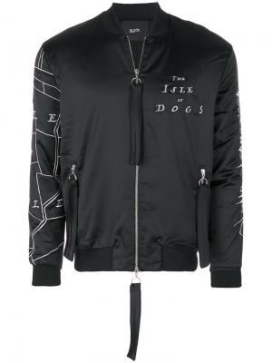 Куртка-бомбер Poplar Blood Brother. Цвет: чёрный