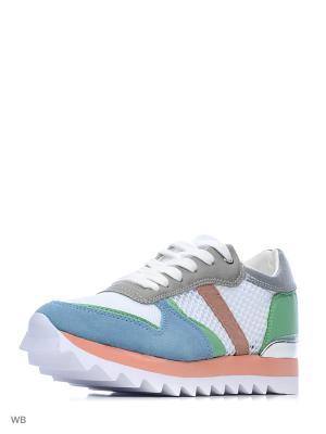 Кроссовки Covani. Цвет: белый, зеленый, голубой