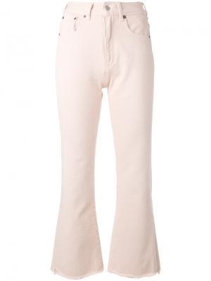 Укороченные брюки клеш Mm6 Maison Margiela. Цвет: розовый и фиолетовый