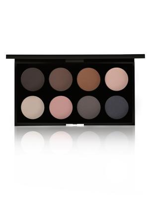 Набор теней для век BASICS MATTE GA-DE. Цвет: молочный, розовый, темно-коричневый, серый, светло-коричневый