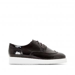 Ботинки-дерби лакированные CASTALUNA. Цвет: бежевый,черный