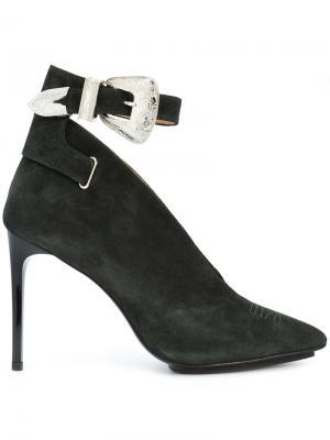 Туфли-лодочки с пряжкой Toga Pulla. Цвет: зелёный