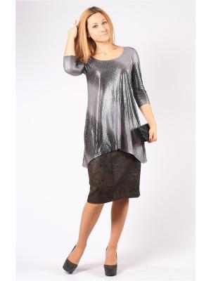 Блузка BERKANA. Цвет: серый, темно-серый