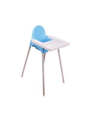Стульчик для кормления (голубой) Альтернатива. Цвет: голубой, белый