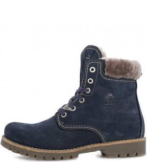 Ботинки из замши с подкладкой овечьей шерсти Panama Jack. Цвет: синий
