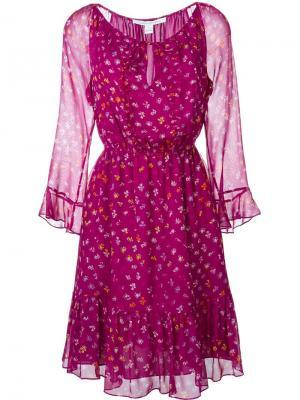 Платье Simona Diane Von Furstenberg. Цвет: розовый и фиолетовый