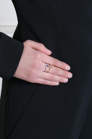 Серебряное кольцо с лазуритом Pamela Love 31813722