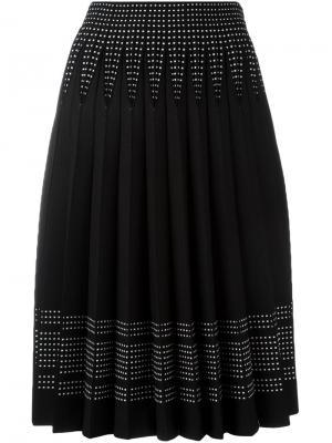 Плиссированная юбка А-образного кроя Alexander McQueen. Цвет: чёрный