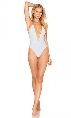 Слитный купальник lilly Frankies Bikinis. Цвет: нежно-голубой