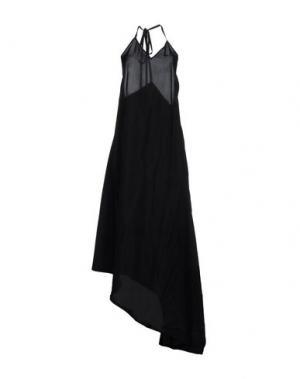Платье длиной 3/4 NOSTRASANTISSIMA. Цвет: черный
