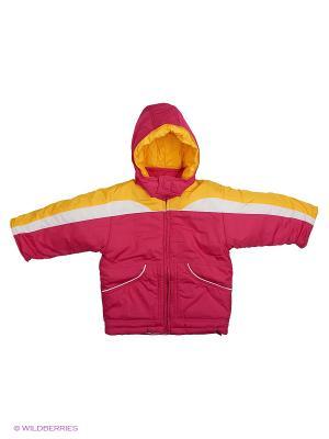 Куртка Babycollection. Цвет: желтый, малиновый