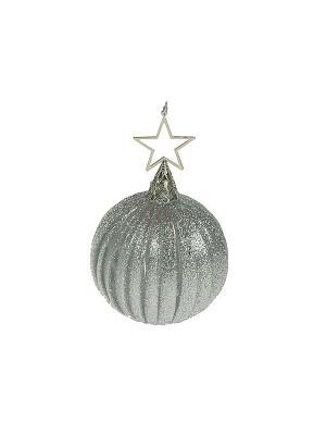 Игрушка ёлочная Серебряный шар Русские подарки. Цвет: серебристый