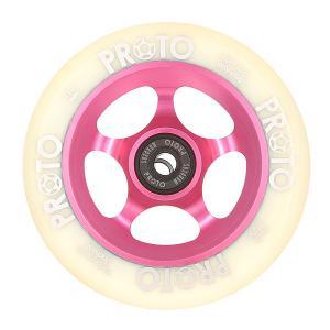 Колесо для самоката  110 Мм Slider White On Pink Proto. Цвет: розовый,белый