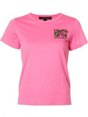 Футболка MTV Marc Jacobs. Цвет: розовый и фиолетовый