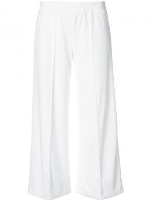 Укороченные брюки-палаццо Atm Anthony Thomas Melillo. Цвет: белый