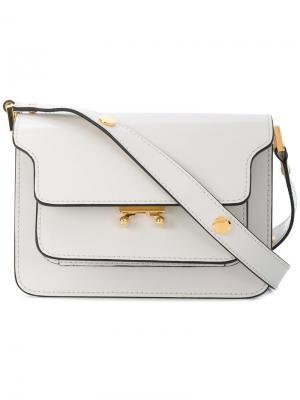 Дорожная сумка Trunk Marni. Цвет: белый