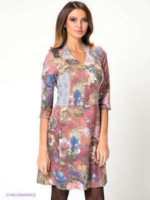 Платье Capriz. Цвет: бледно-розовый, синий
