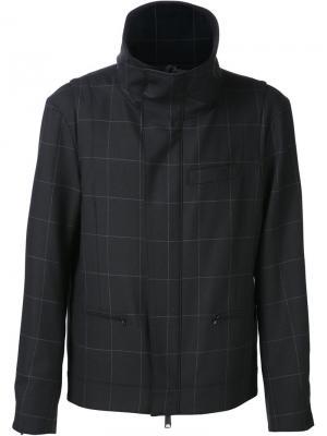 Куртка с сетчатым узором Public School. Цвет: чёрный