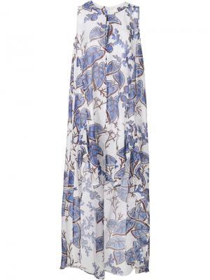 Платье с пестрым узором Thakoon. Цвет: синий