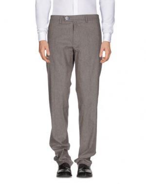 Повседневные брюки DIMATTIA. Цвет: голубиный серый
