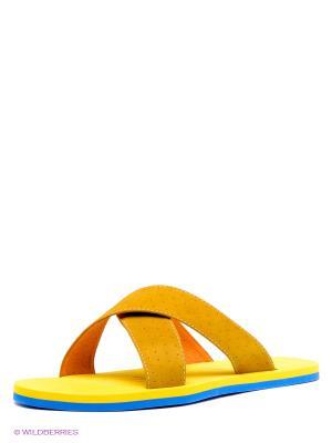 Шлепанцы MILANA. Цвет: желтый