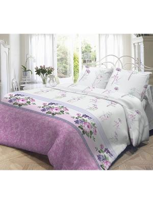 Комплект постельного белья, Флоренция Волшебная ночь. Цвет: белый, розовый