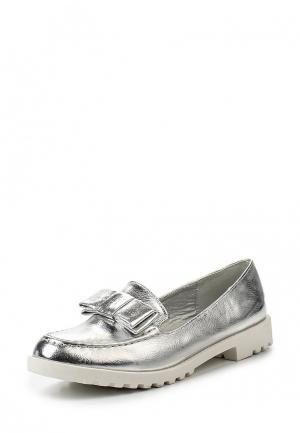 Лоферы Sweet Shoes. Цвет: серебряный