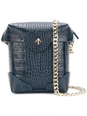 Маленькая сумка через плечо Pristine Manu Atelier. Цвет: синий