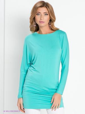 Блузка DEVORE. Цвет: бирюзовый