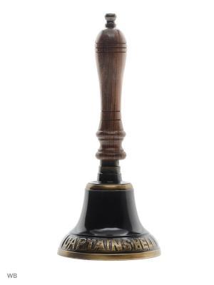 Колокольчик Капитанский с деревянной ручкой ETHNIC CHIC. Цвет: черный, темно-коричневый