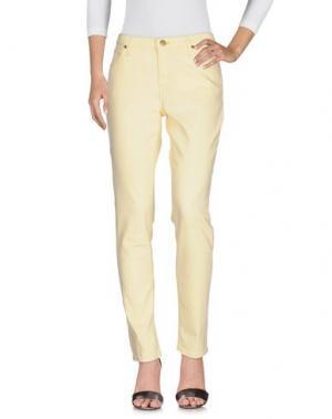 Джинсовые брюки LEE. Цвет: светло-желтый