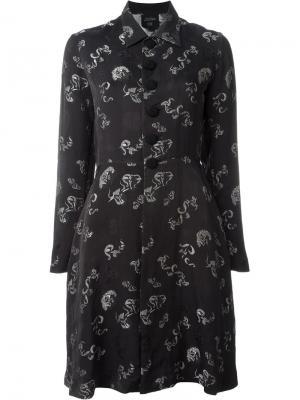 Жаккардовое платье-рубашка Jean Paul Gaultier Vintage. Цвет: чёрный