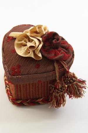 Караван Коробочка-Сердечко Декор Текстиль. Цвет: мультицвет