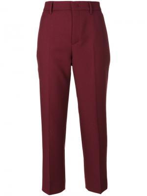 Узкие брюки Prada. Цвет: красный
