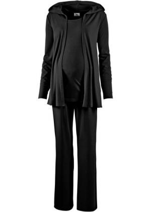 Мода для беременных: спортивные костюм из куртки, брюк и топа (3 изд.) (темно-красный) bonprix. Цвет: темно-красный