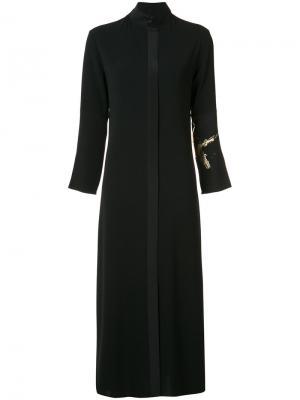 Длинное платье-рубашка Peter Cohen. Цвет: чёрный