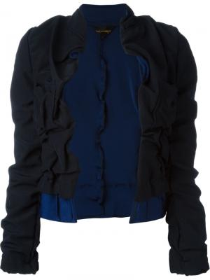 Укороченный пиджак с присборенной отделкой Comme Des Garçons Vintage. Цвет: синий