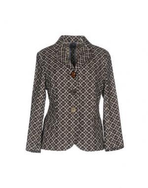 Пиджак MALÌPARMI M.U.S.T.. Цвет: темно-коричневый