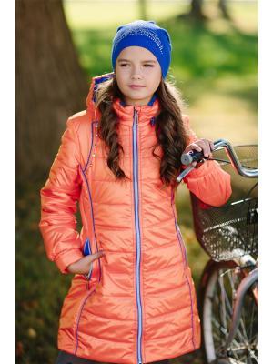 Пальто Полина DUWALI. Цвет: оранжевый