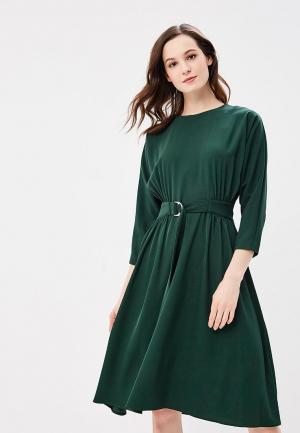 Платье Warehouse. Цвет: зеленый