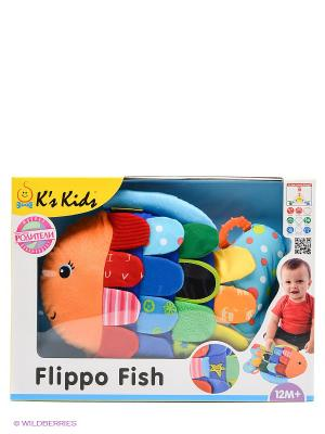 Развивающая игрушка Рыбка-Флиппер K'S Kids. Цвет: светло-оранжевый, красный, желтый, синий, зеленый