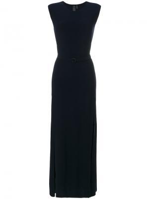 Платье без рукавов Norma Kamali. Цвет: синий