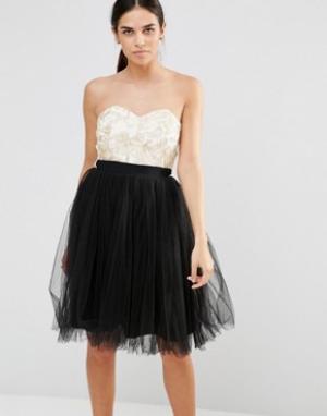 Laced In Love Платье для выпускного. Цвет: черный
