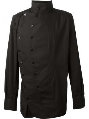 Двубортная рубашка Alchemy. Цвет: чёрный