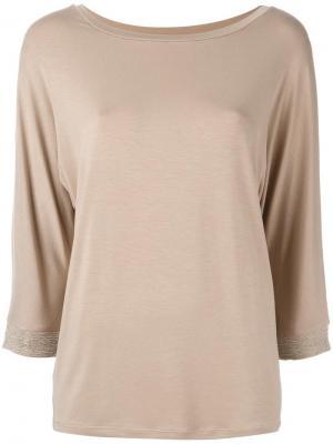Блузка с декорированными рукавами Steffen Schraut. Цвет: телесный