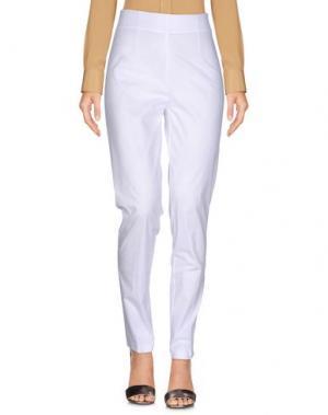 Повседневные брюки CRISTINA ROCCA. Цвет: белый