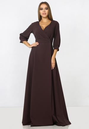 Платье Zerkala. Цвет: коричневый